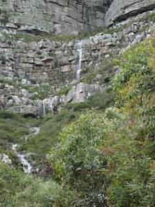 Waterfall below Saddle Corner